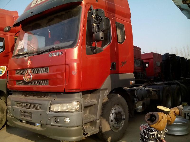 2012年2月 低价出售二手东风霸龙半挂牵引头车,可融资可挂靠 红色 高清图片