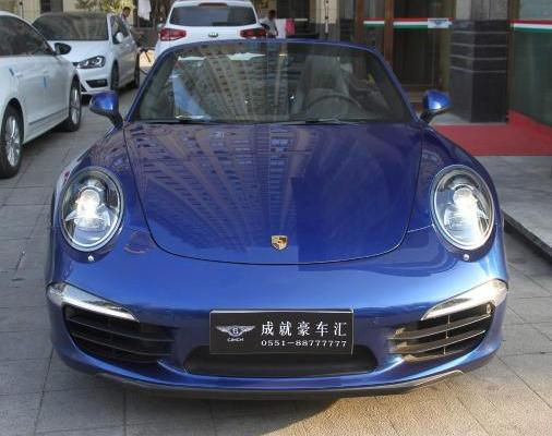 【合肥】2013年7月 保时捷 911 carrera s cabriolet 3.8 蓝色 自动档