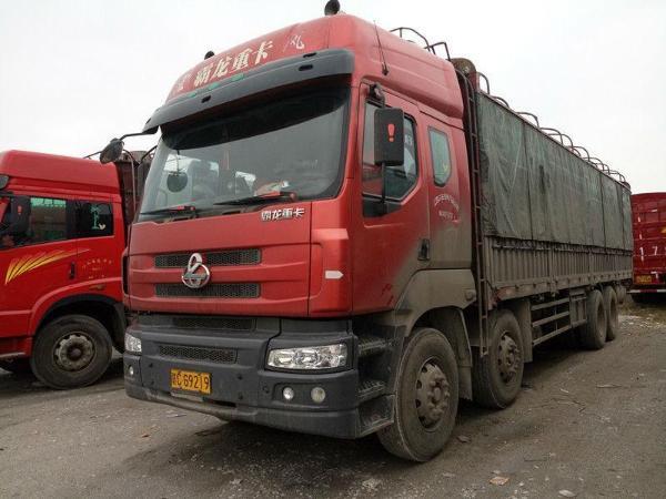 2013年7月 东风柳汽霸龙前四后八仓栏车出售 红色 手动挡高清图片