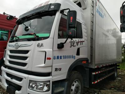 青岛解放单桥冷藏车,国五排放图片