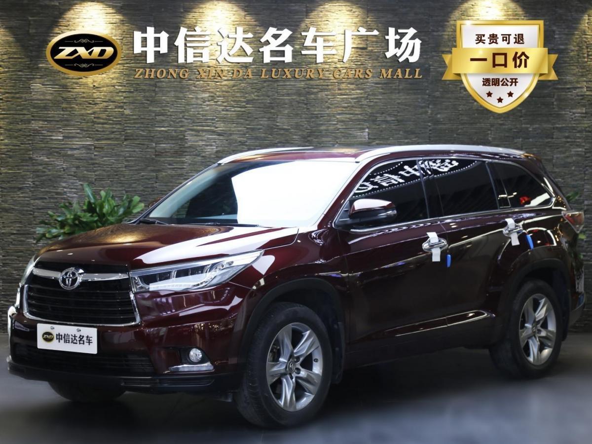 青岛二手丰田汉兰达2015款2.0T四驱豪华版7座自动档报价25.28万