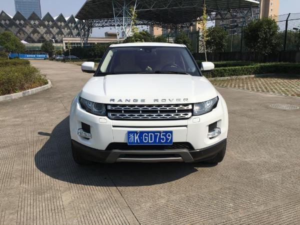 【丽水】2012年5月 路虎 揽胜极光 coupe 2.0t 耀致版 白色 手自一体