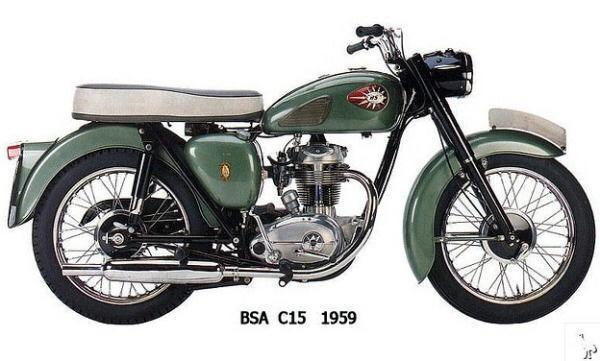 英国老牌古董机车BSA图片