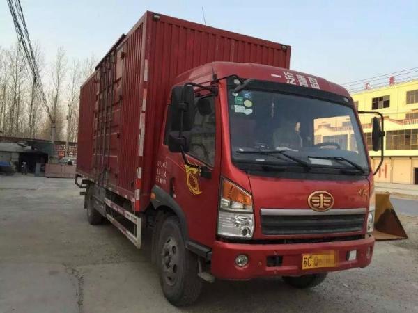 手6.8米青岛解放厢式货车 价格7.8万元图片