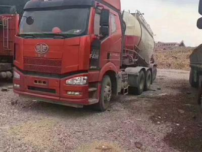 解放j6P半挂水泥罐车,国五排放