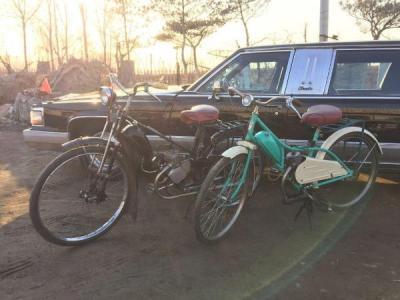 苏联德五摩托自行车