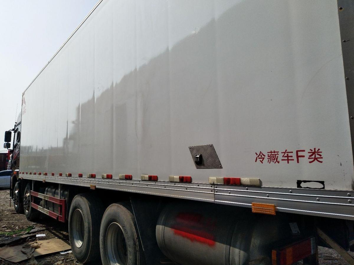 青岛解放jH6前四后八冷藏车,国五排放图片