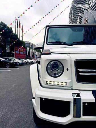 【上海】2014年2月 奔馳 g級 g500 5.5 白色 自動檔