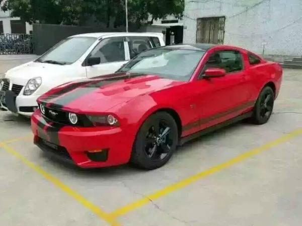 (扫描二维码,手机浏览) 车辆描述:福特野马gt500超级跑车红色棕笼超级
