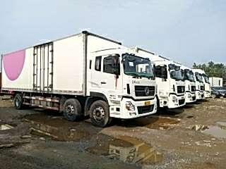 東風天龍前四后四廂式貨車,國五排放