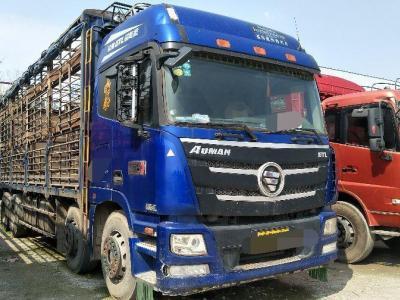 欧曼ETL前四后八猪笼车,国五排放