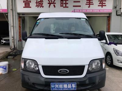 2015年4月  江铃全顺 经典 2.8T 短轴中顶厢货3座柴油图片